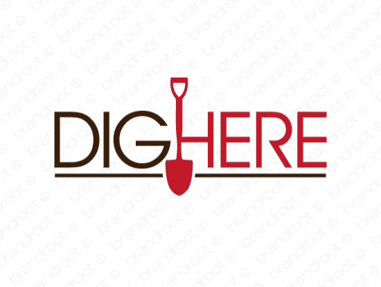 Brandable Domain Name - dighere.com