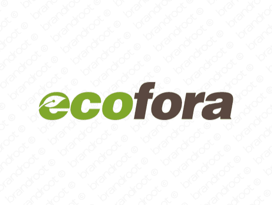 Brandable Domain Name - ecofora.com