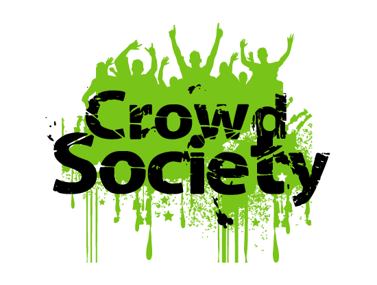 Crowdsociety.com logo design included with business name and domain name, Crowdsociety.com.