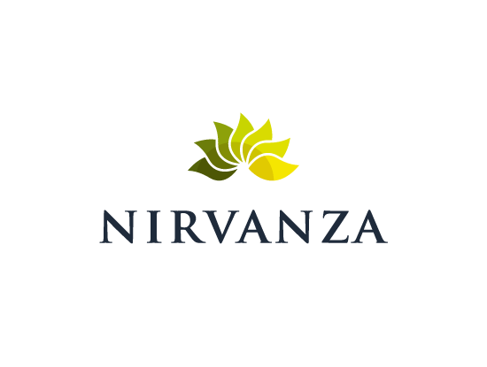 Nirvanza.com logo design included with business name and domain name, Nirvanza.com.