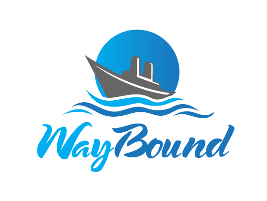 Waybound.com logo design included with business name and domain name, Waybound.com.