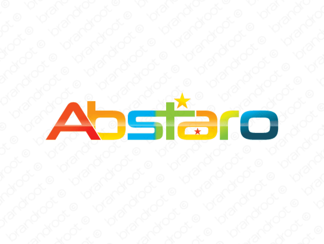 Abstaro logo design included with business name and domain name, Abstaro.com.