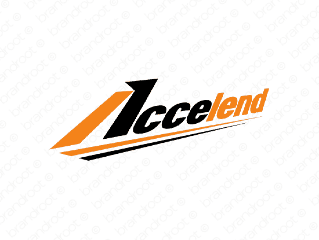 Accelend logo design included with business name and domain name, Accelend.com.