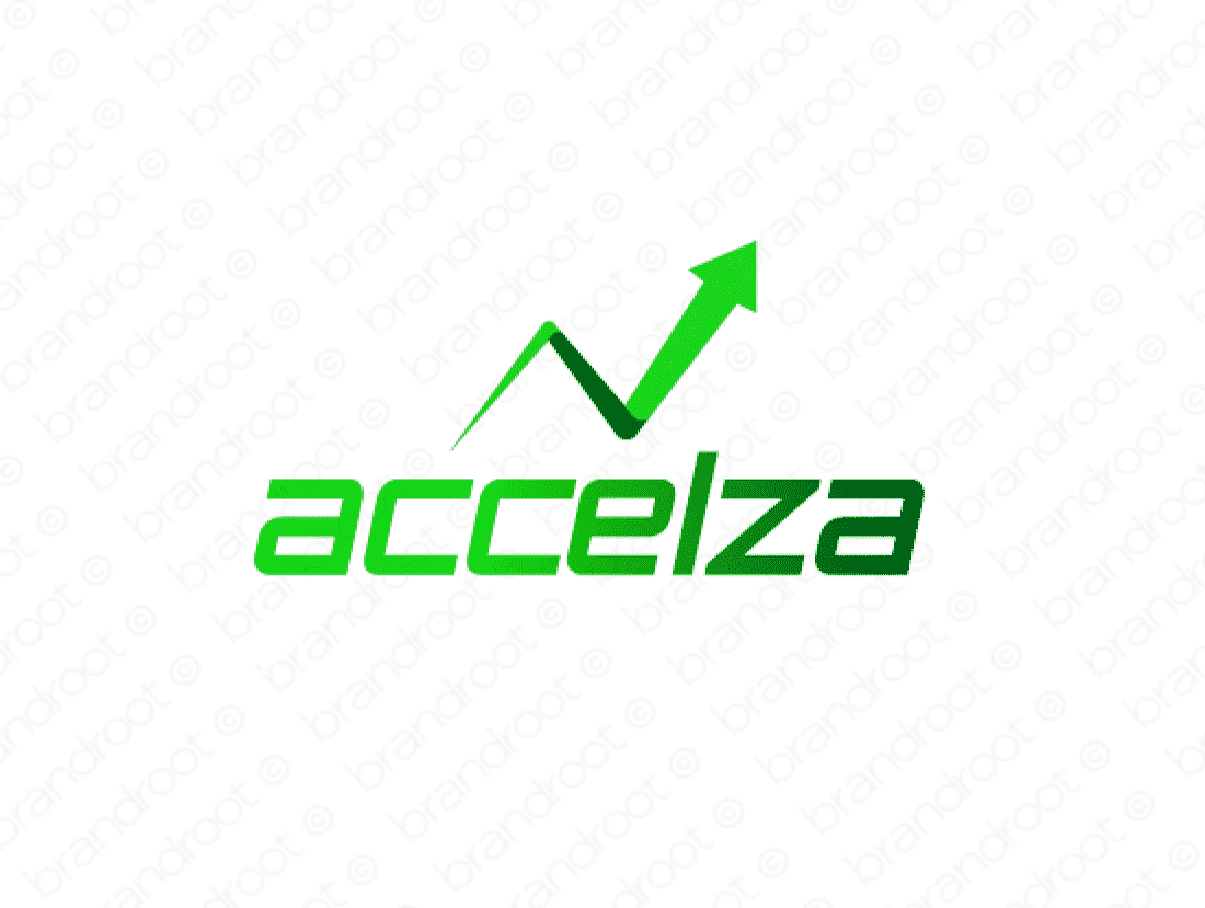 Accelza logo design included with business name and domain name, Accelza.com.