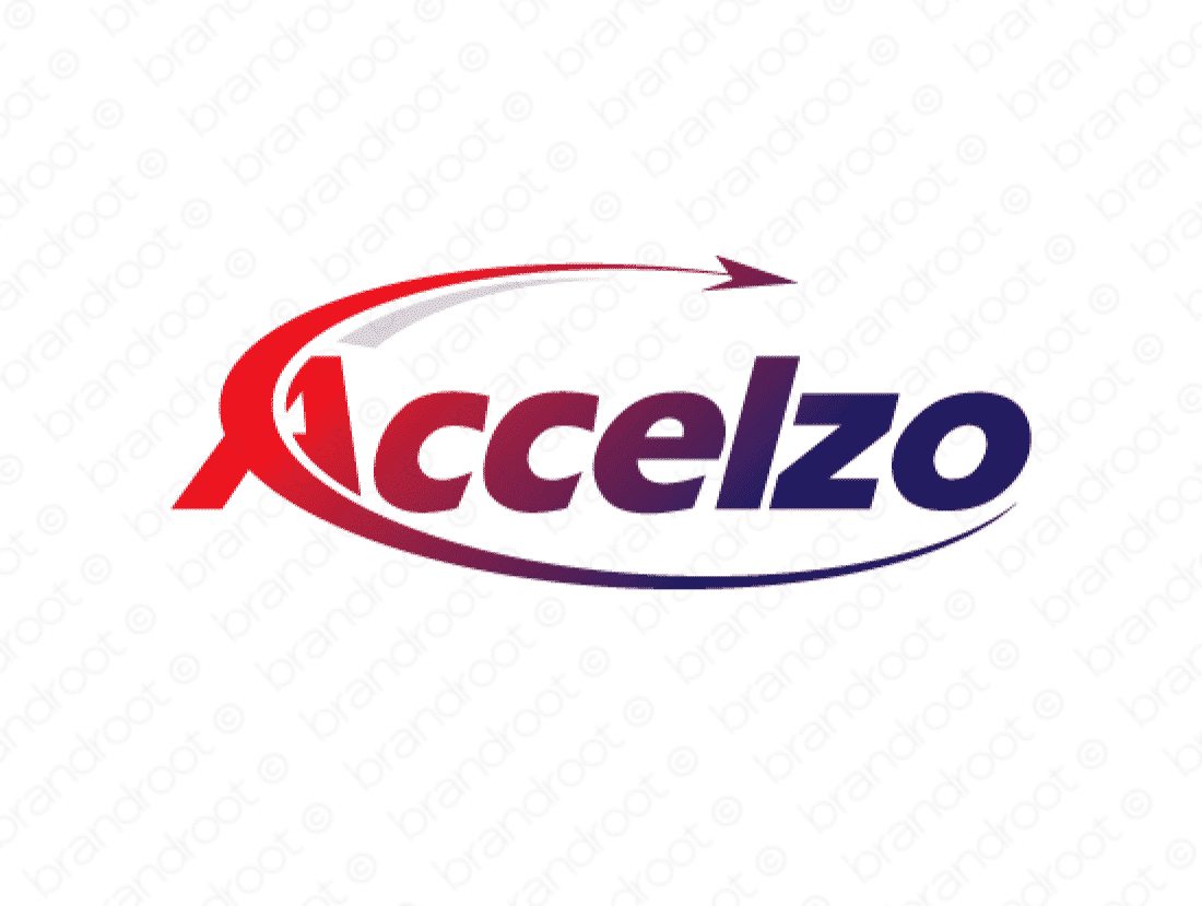 Accelzo logo design included with business name and domain name, Accelzo.com.