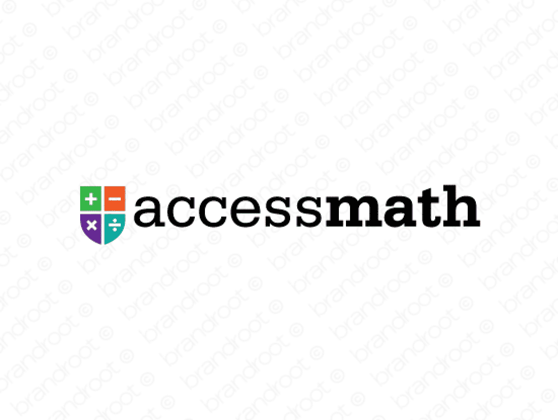 Accessmath logo design included with business name and domain name, Accessmath.com.
