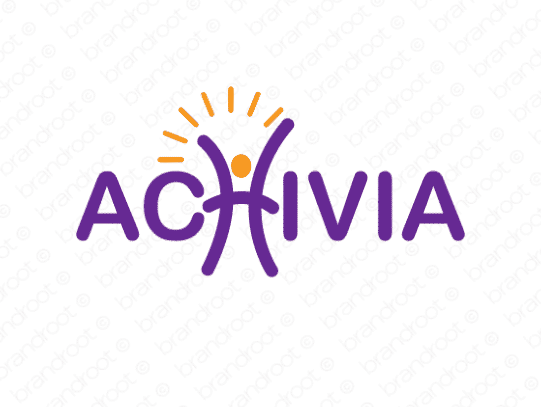 Achivia logo design included with business name and domain name, Achivia.com.