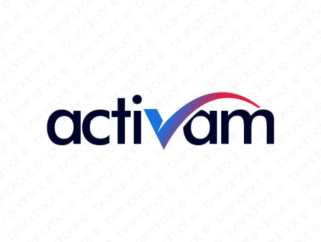 Activam logo design included with business name and domain name, Activam.com.