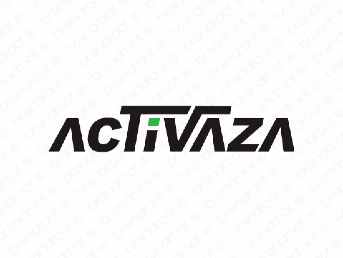 Activaza logo design included with business name and domain name, Activaza.com.