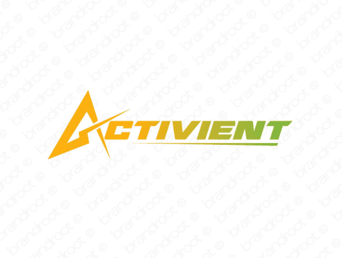 Activient logo design included with business name and domain name, Activient.com.