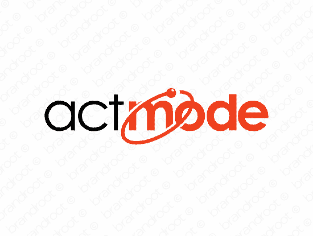 Actmode logo design included with business name and domain name, Actmode.com.