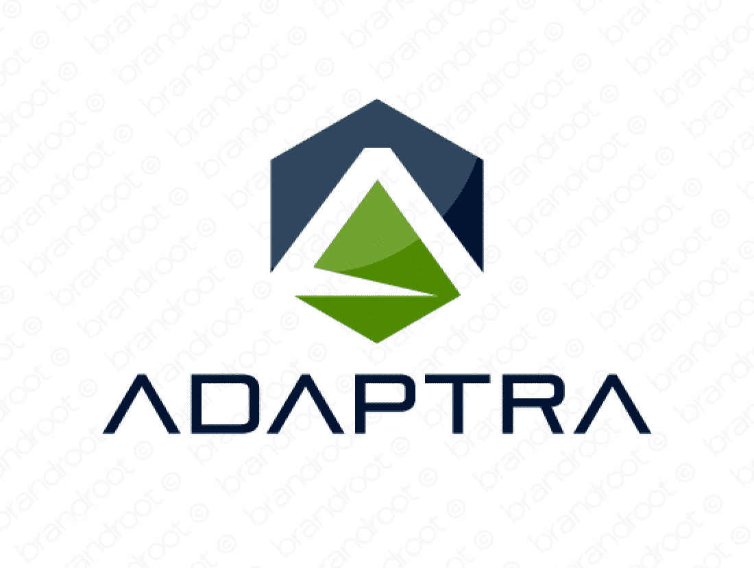 Adaptra logo design included with business name and domain name, Adaptra.com.