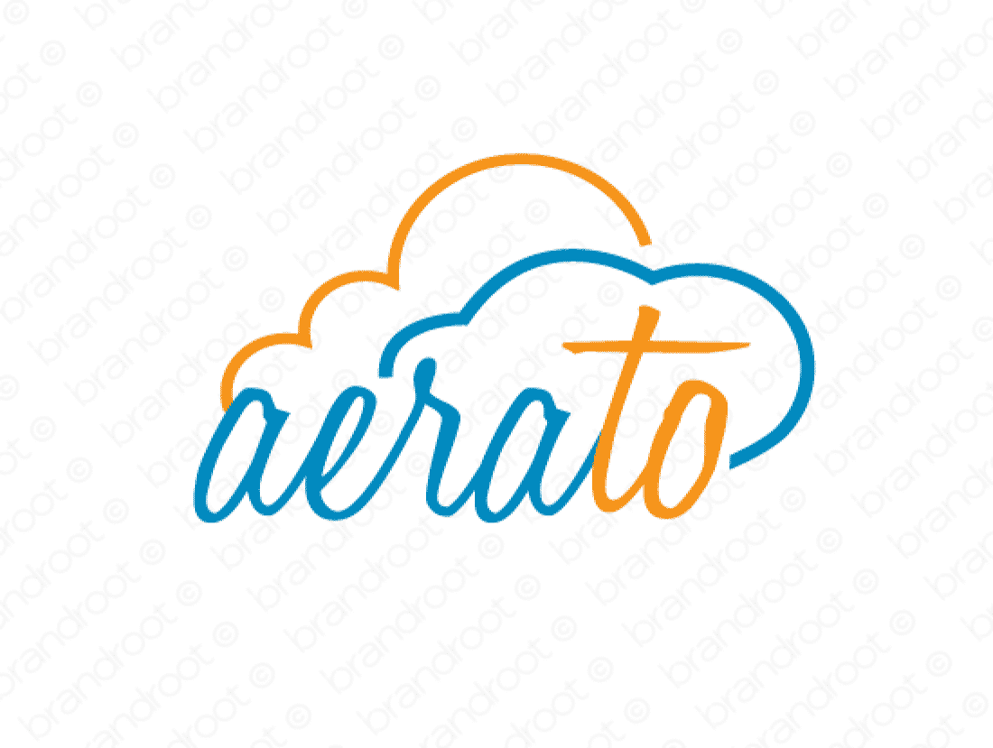 Aerato logo design included with business name and domain name, Aerato.com.
