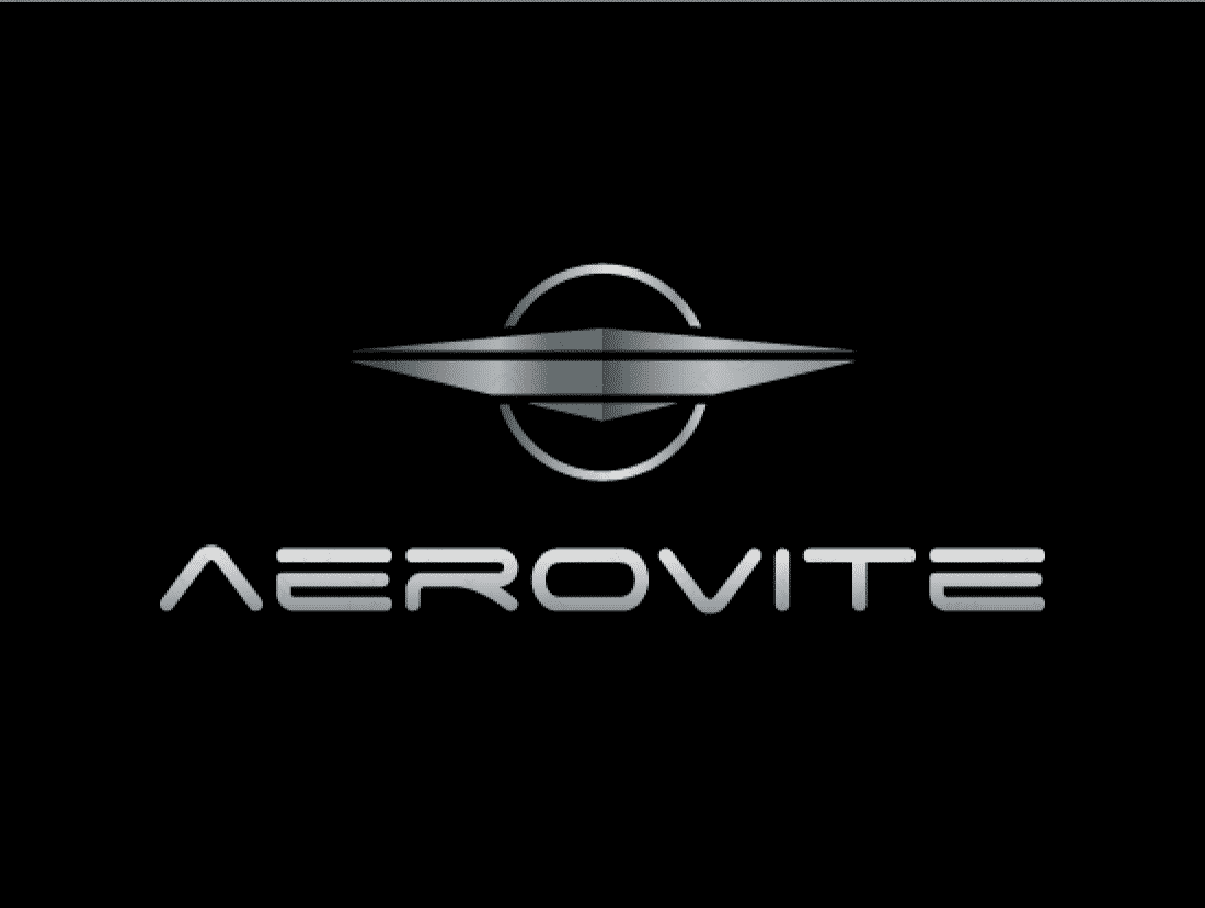 Aerovite logo design included with business name and domain name, Aerovite.com.