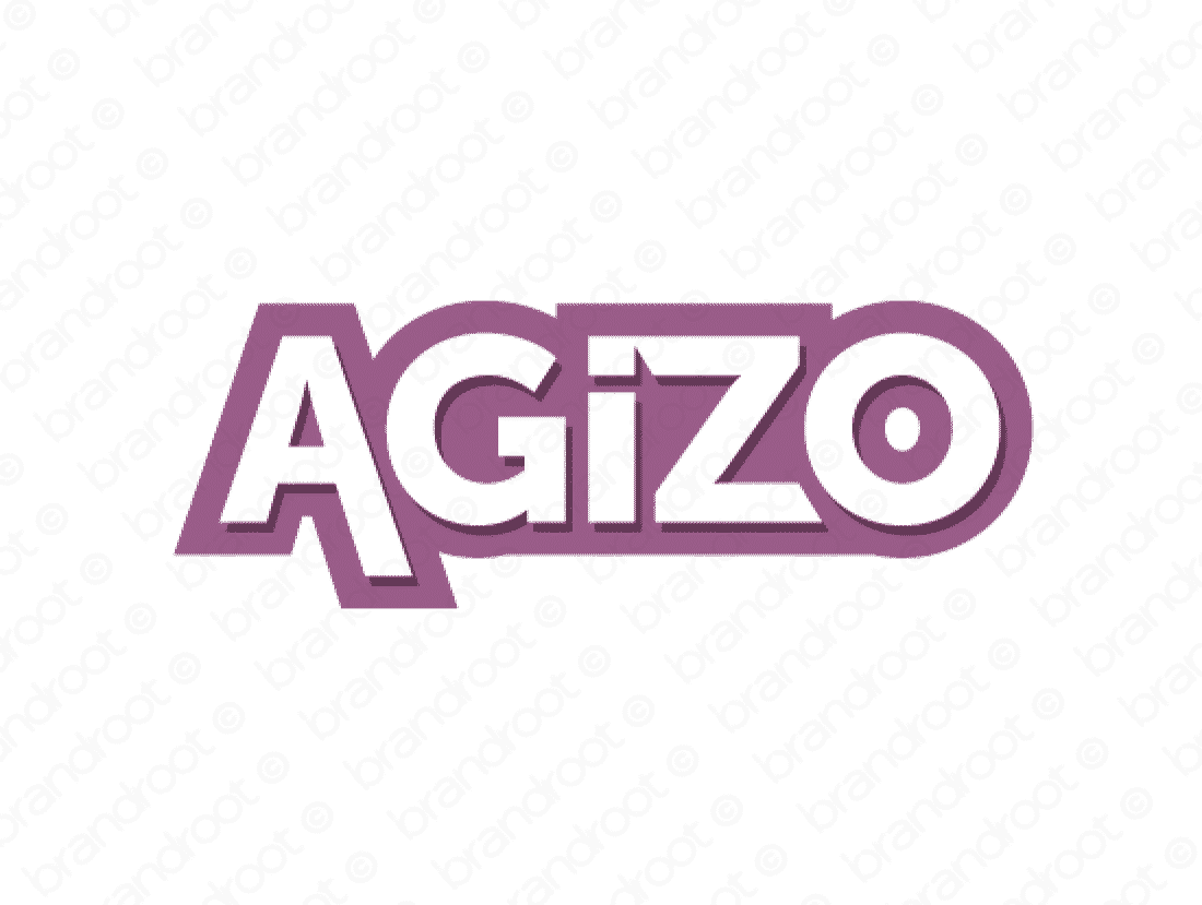Agizo logo design included with business name and domain name, Agizo.com.