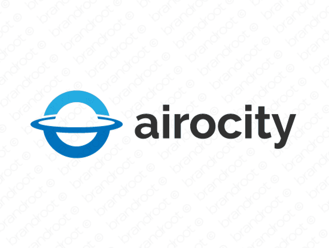 Airocity logo design included with business name and domain name, Airocity.com.