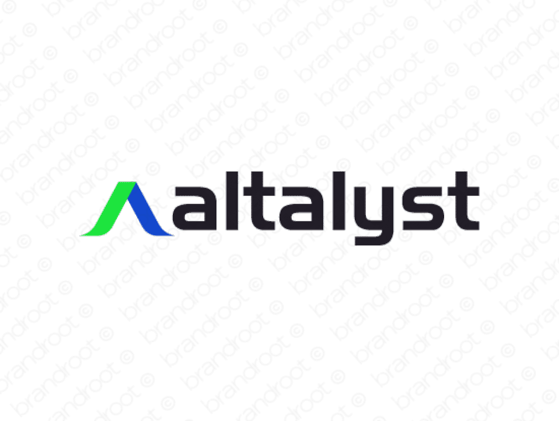 Altalyst logo design included with business name and domain name, Altalyst.com.
