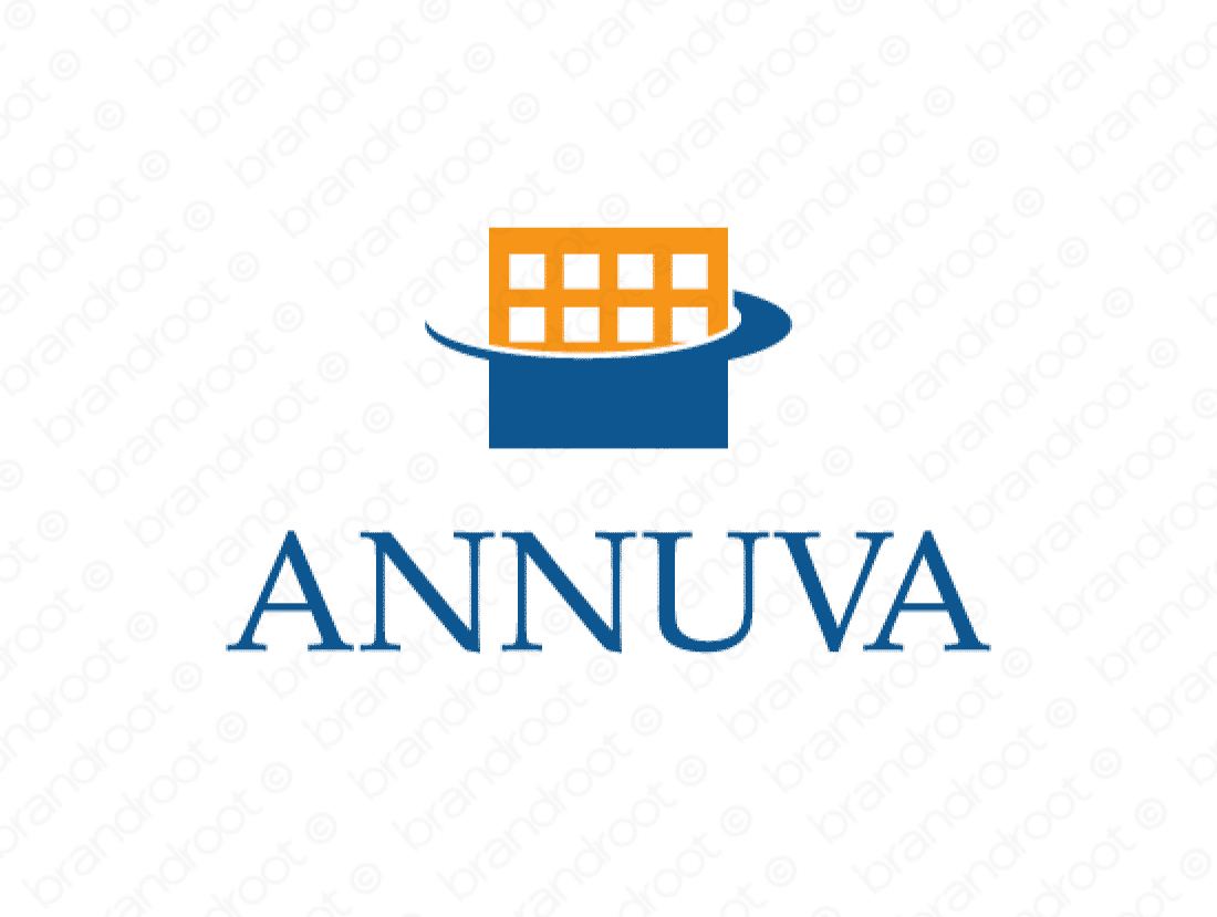 Annuva logo design included with business name and domain name, Annuva.com.