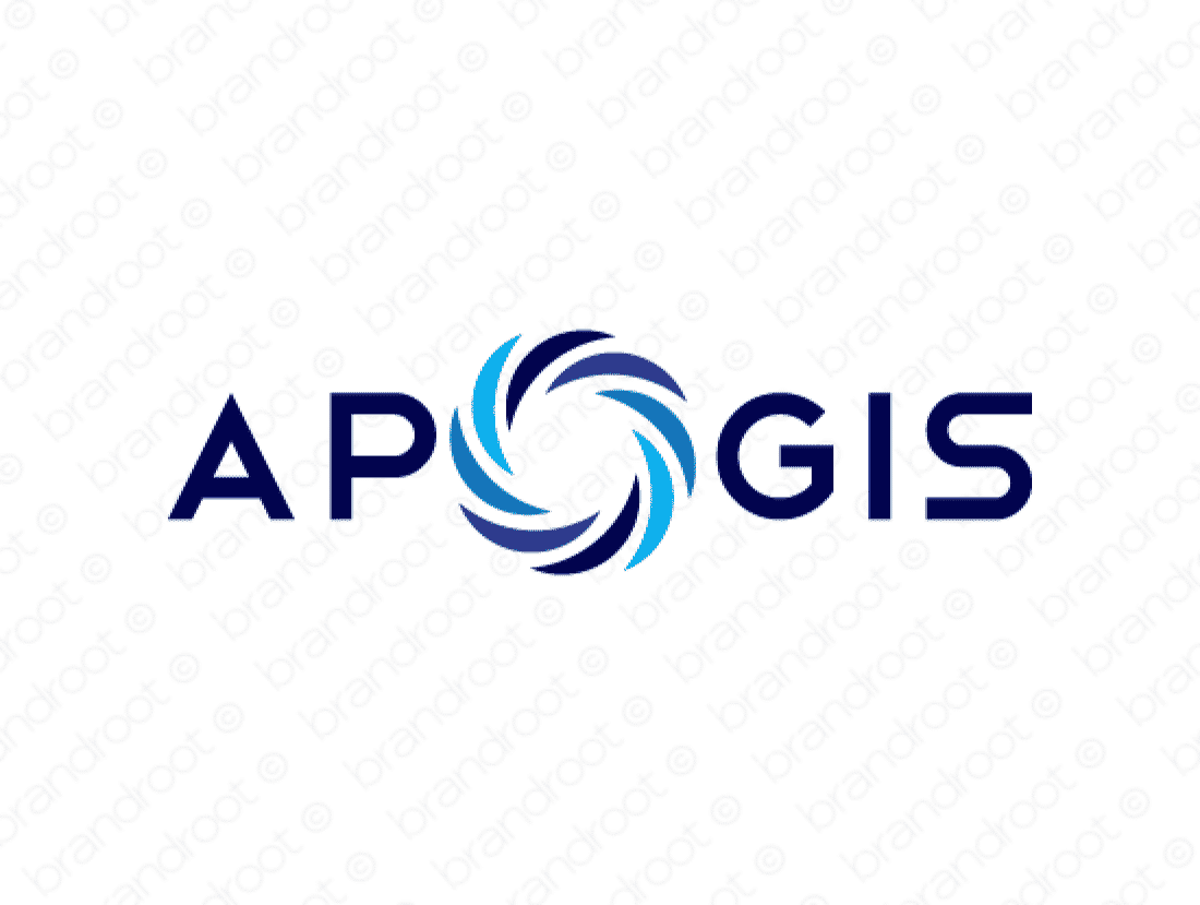 Apogis logo design included with business name and domain name, Apogis.com.