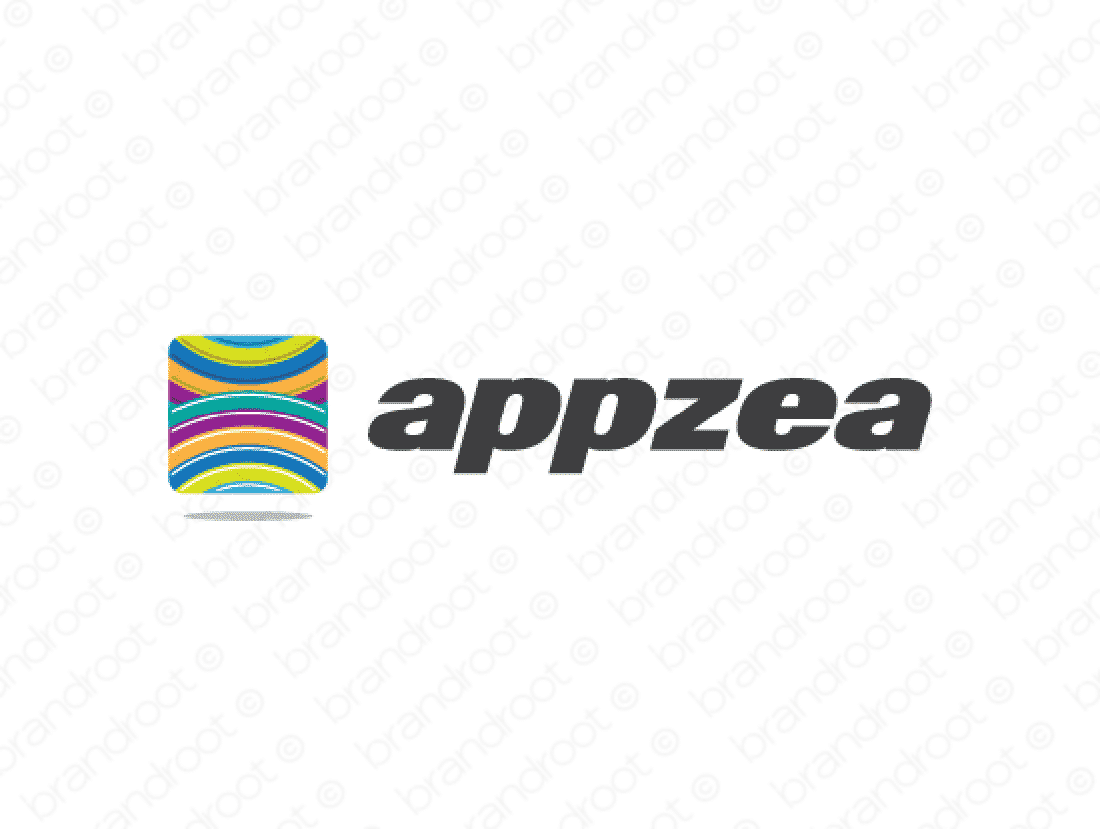 Appzea logo design included with business name and domain name, Appzea.com.