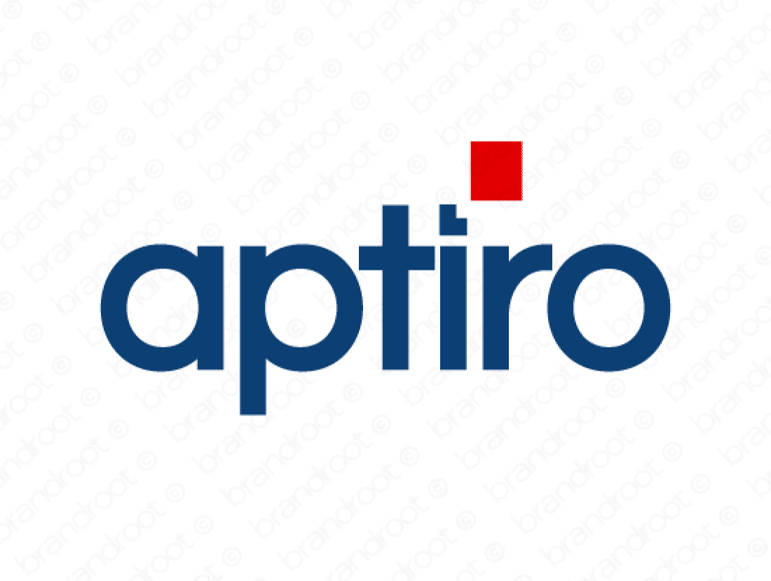 Aptiro logo design included with business name and domain name, Aptiro.com.