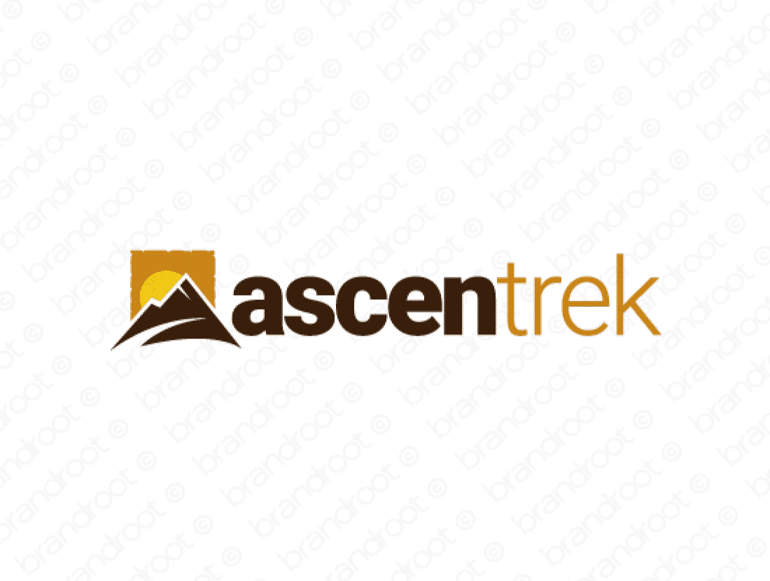 Ascentrek logo design included with business name and domain name, Ascentrek.com.
