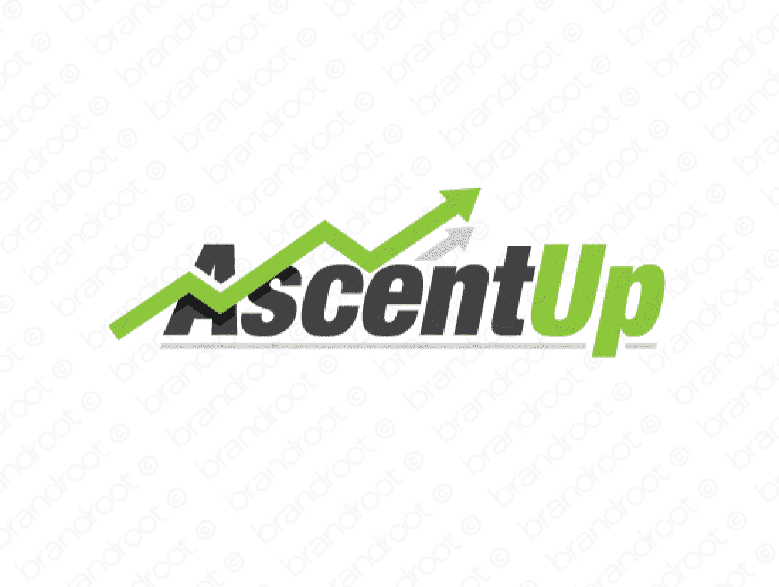 Ascentup logo design included with business name and domain name, Ascentup.com.