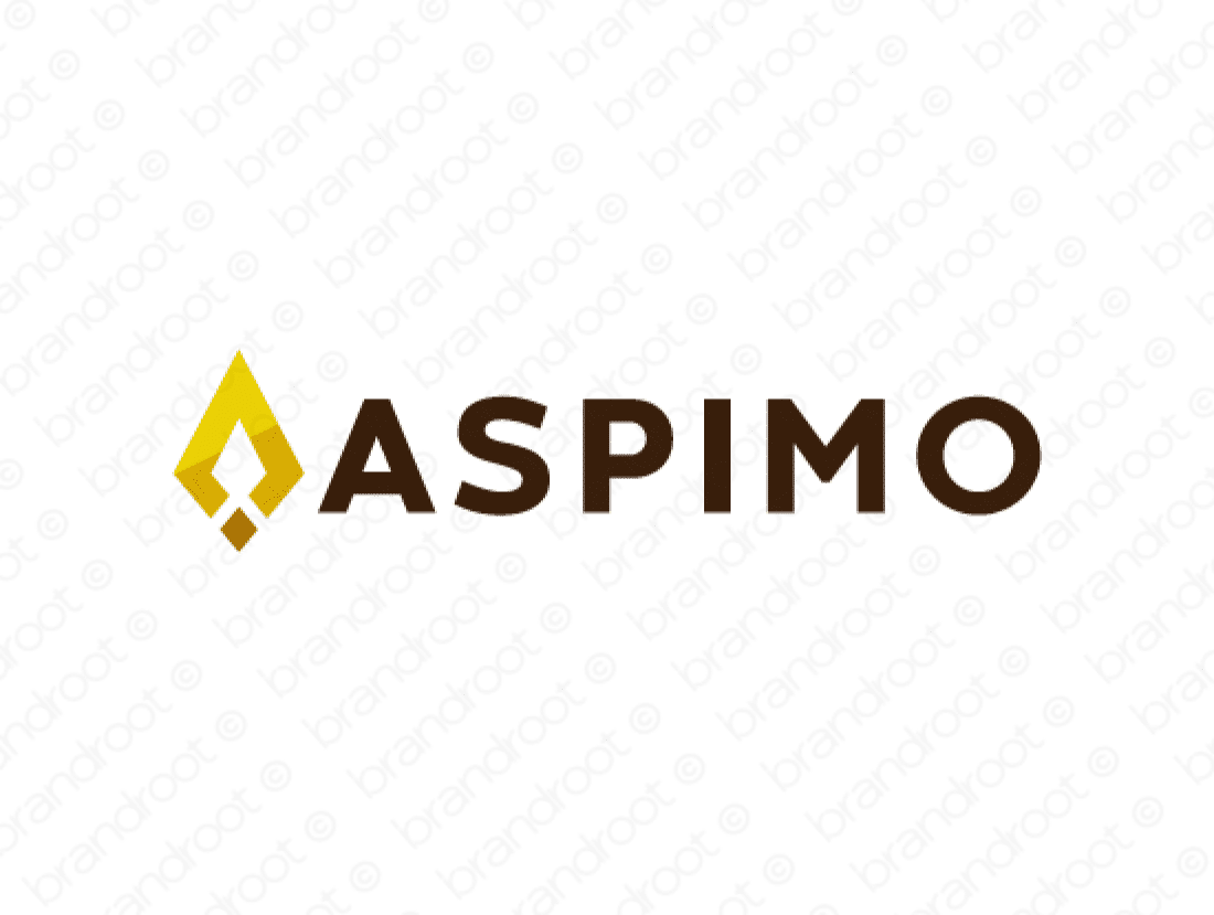 Aspimo logo design included with business name and domain name, Aspimo.com.