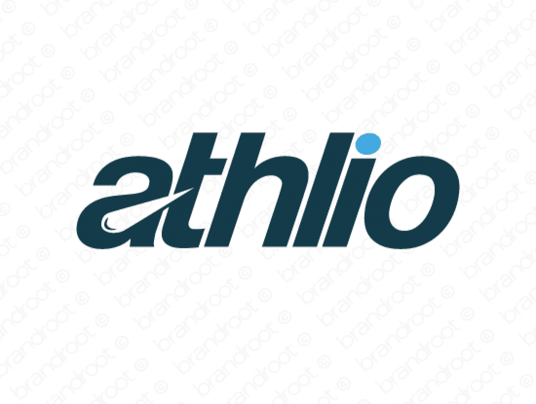 Athlio logo design included with business name and domain name, Athlio.com.