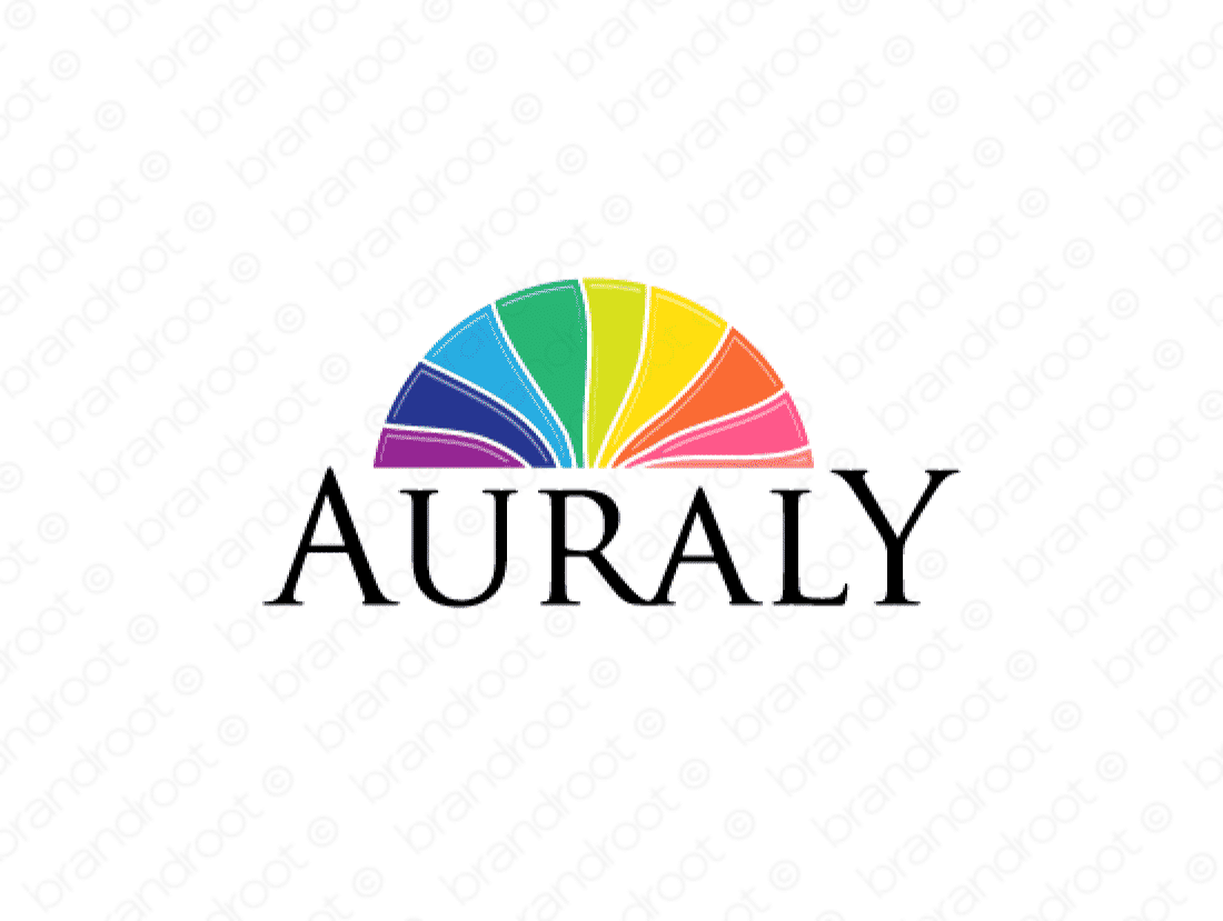Auraly logo design included with business name and domain name, Auraly.com.