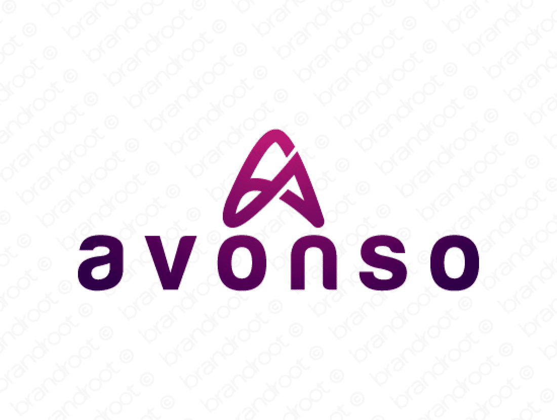 Avonso logo design included with business name and domain name, Avonso.com.