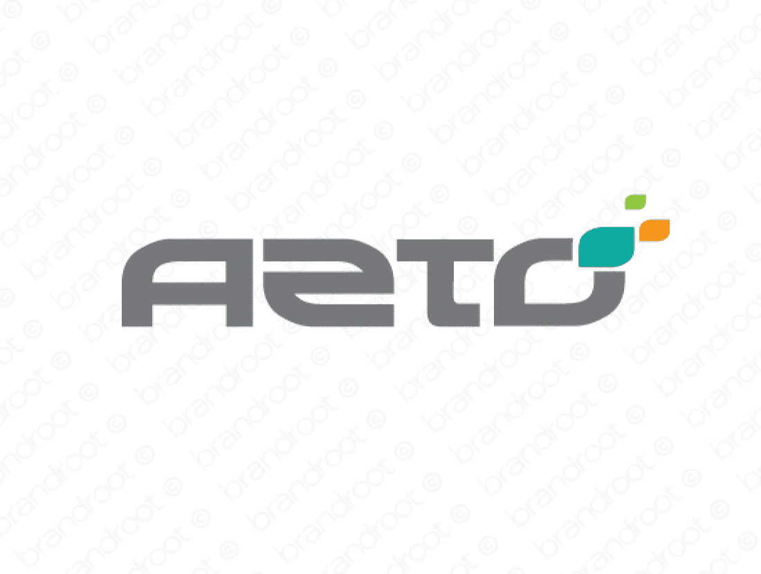 Azto logo design included with business name and domain name, Azto.com.