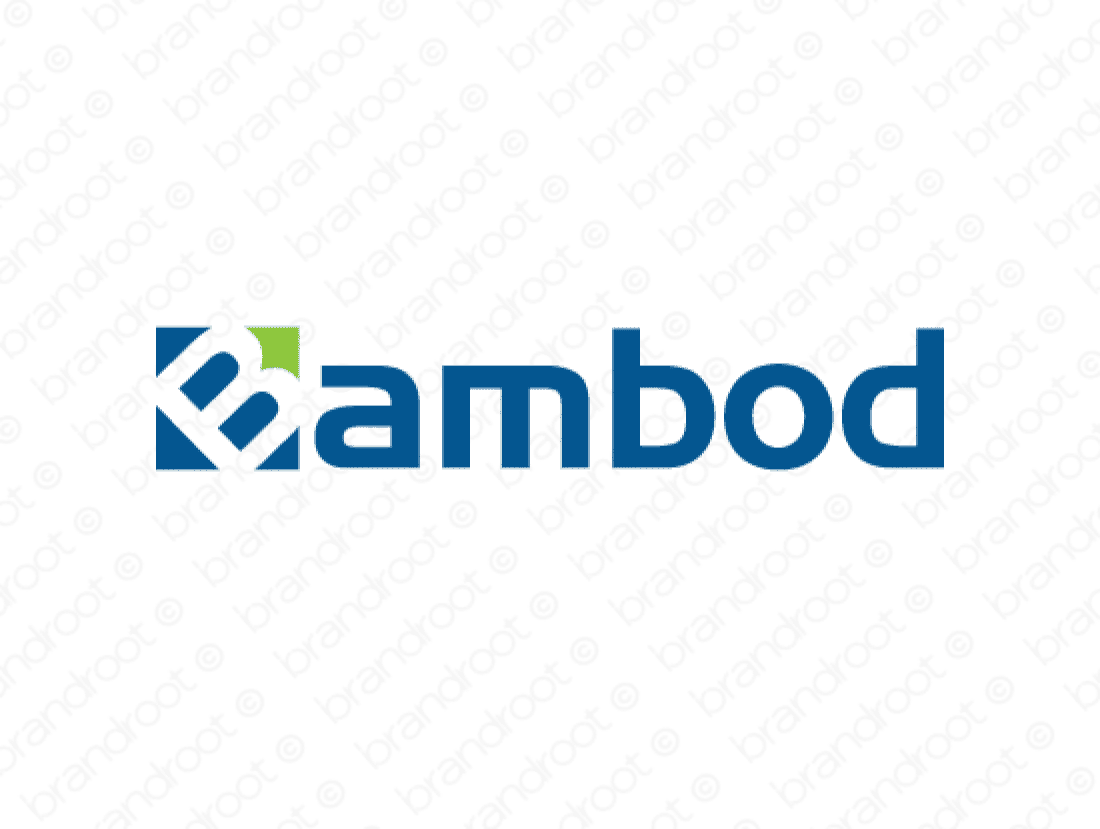Bambod logo design included with business name and domain name, Bambod.com.