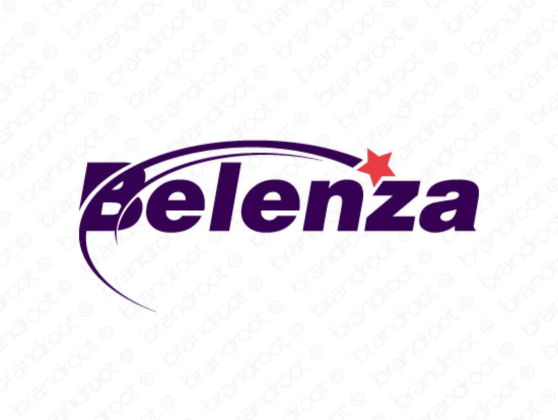 Belenza logo design included with business name and domain name, Belenza.com.