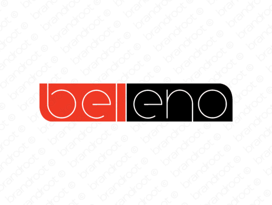 Belleno logo design included with business name and domain name, Belleno.com.
