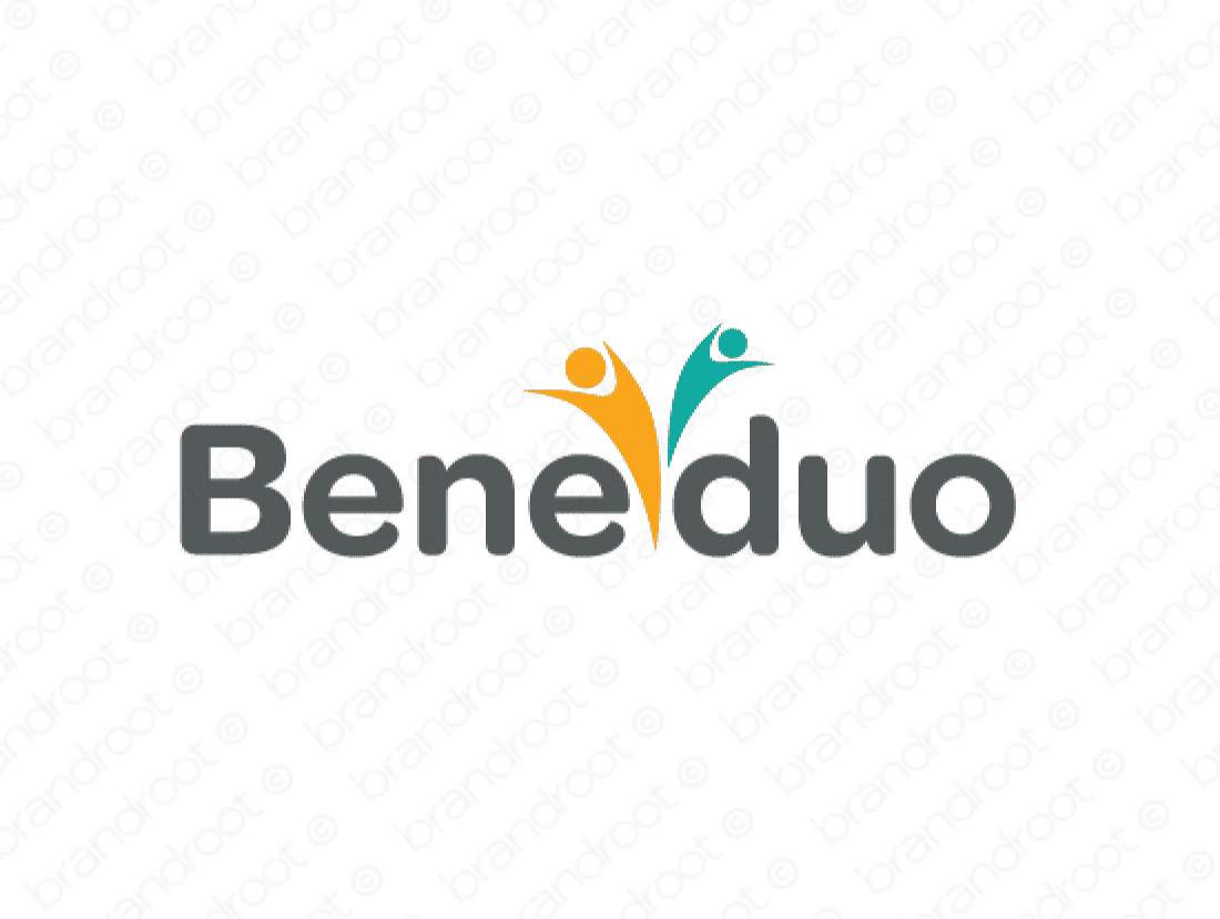 Beneduo logo design included with business name and domain name, Beneduo.com.