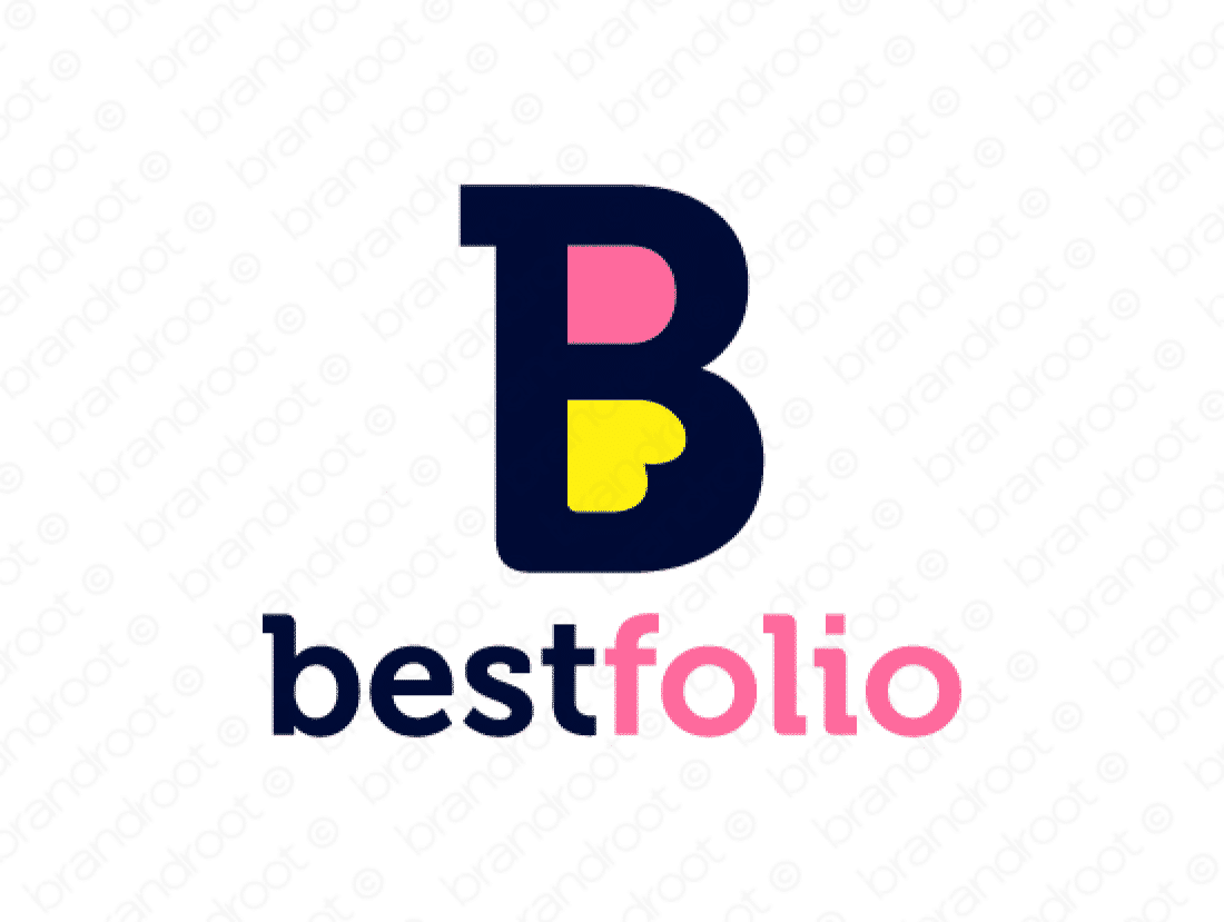 Bestfolio logo design included with business name and domain name, Bestfolio.com.