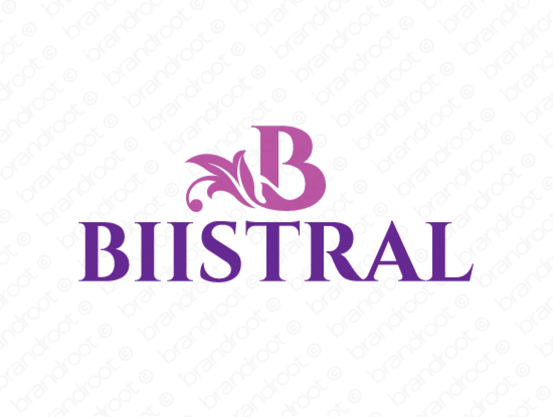 Bistral logo design included with business name and domain name, Bistral.com.
