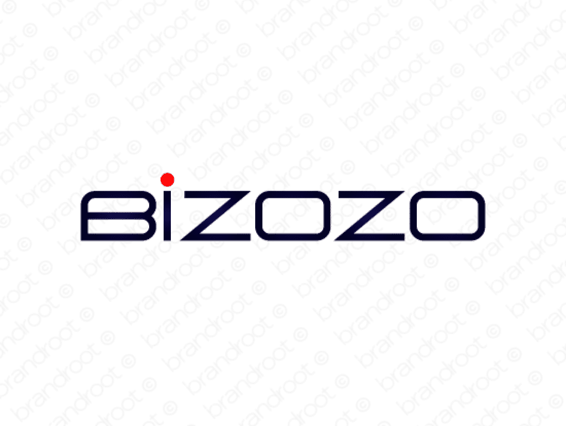Bizozo logo design included with business name and domain name, Bizozo.com.