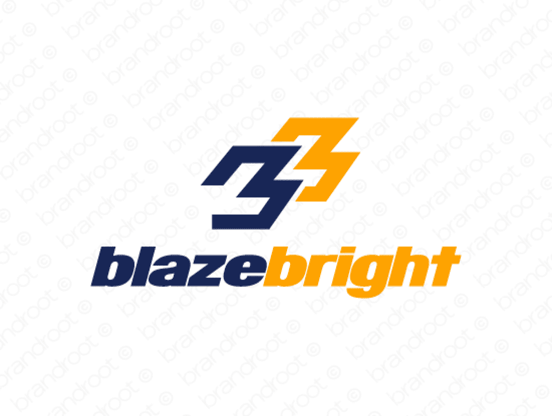 Blazebright logo design included with business name and domain name, Blazebright.com.