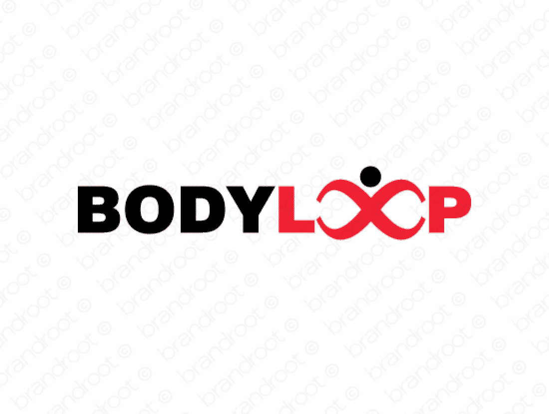 Bodyloop logo design included with business name and domain name, Bodyloop.com.