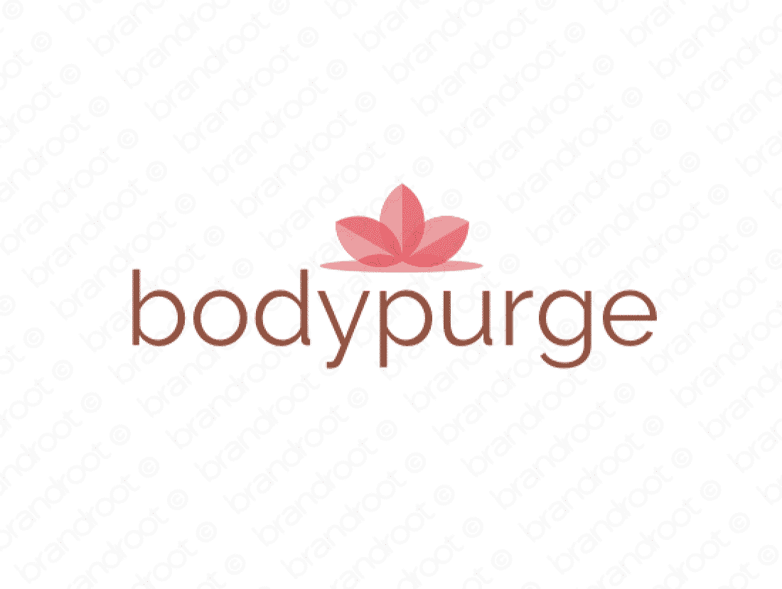 Bodypurge logo design included with business name and domain name, Bodypurge.com.