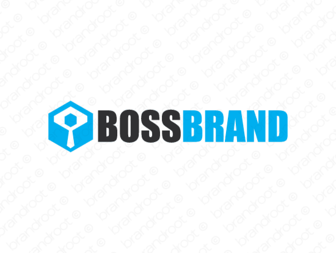 Bossbrand logo design included with business name and domain name, Bossbrand.com.