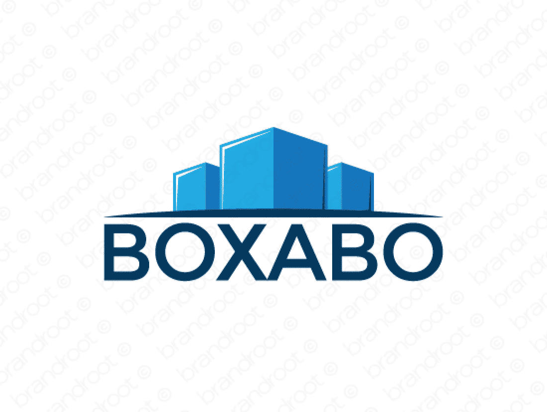 Boxabo logo design included with business name and domain name, Boxabo.com.