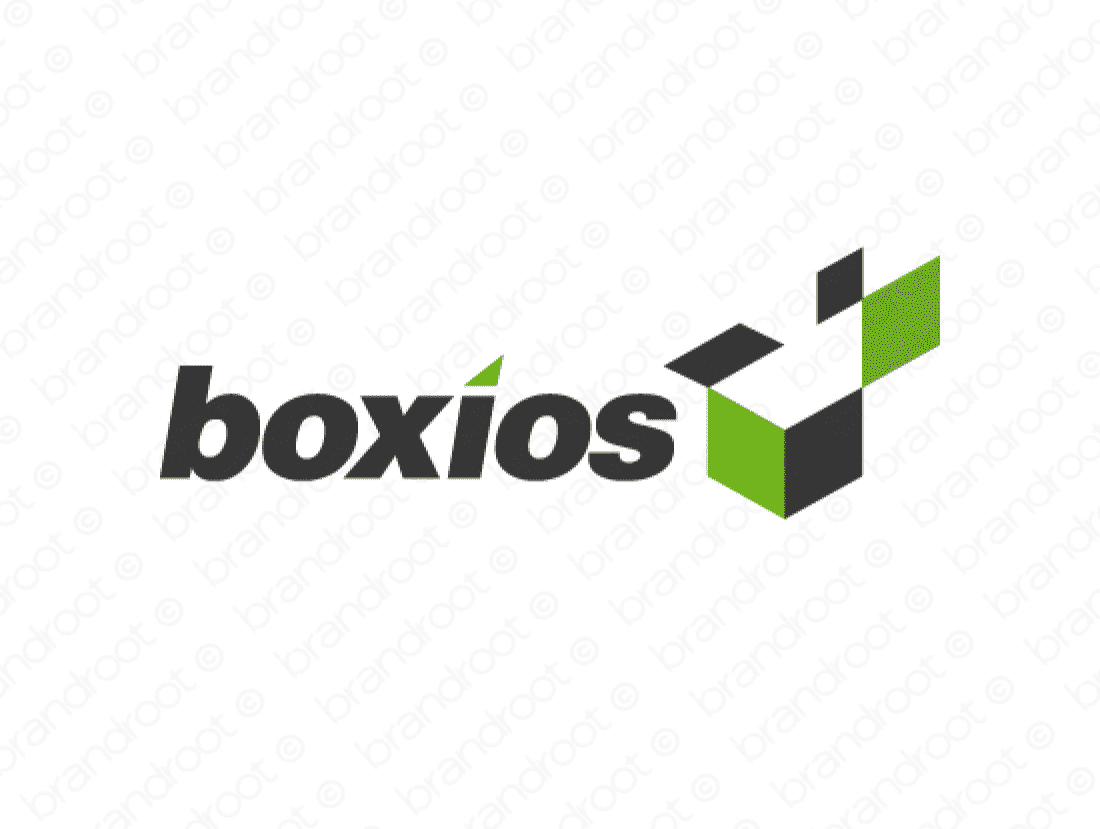 Boxios logo design included with business name and domain name, Boxios.com.