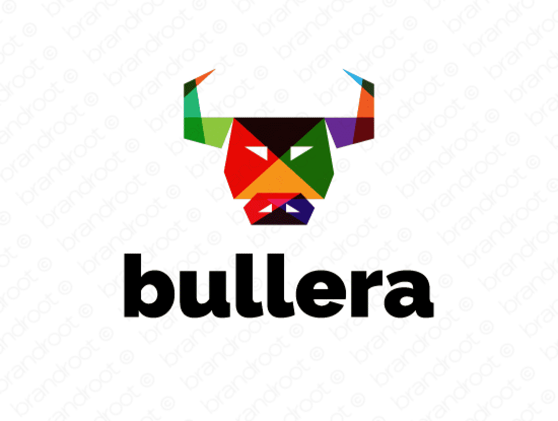 Bullera logo design included with business name and domain name, Bullera.com.
