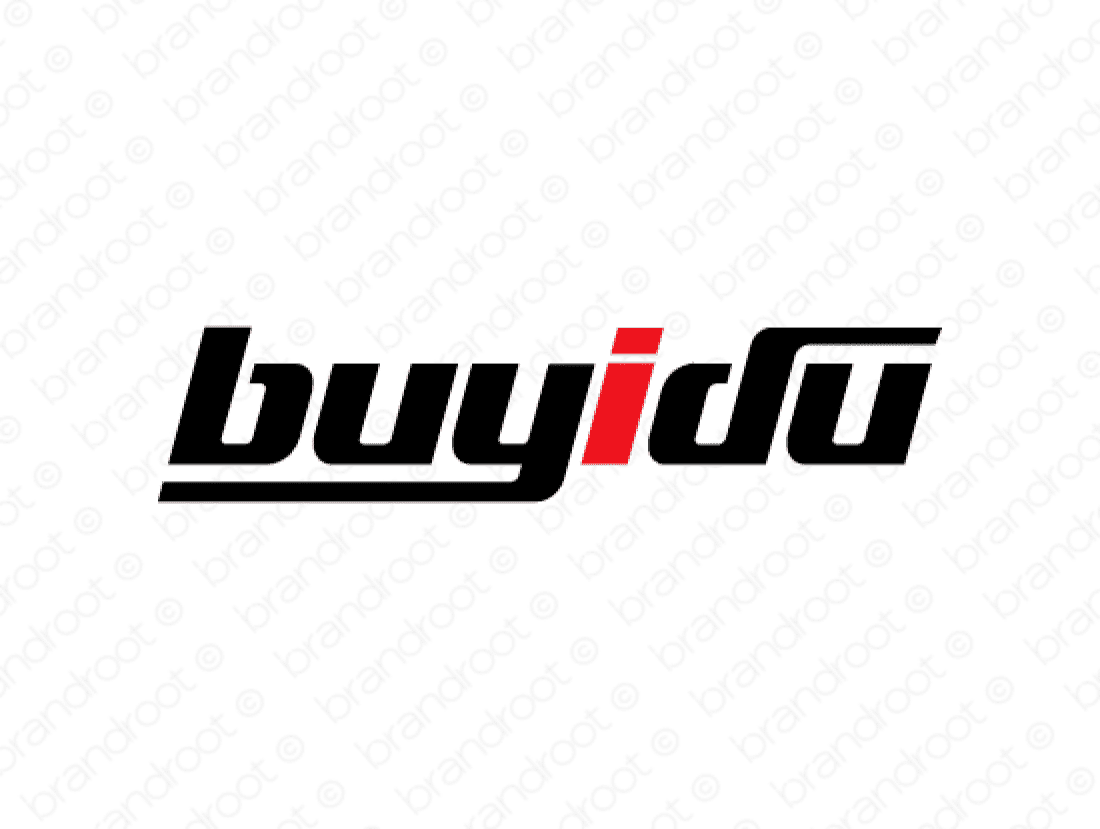 Buyidu logo design included with business name and domain name, Buyidu.com.