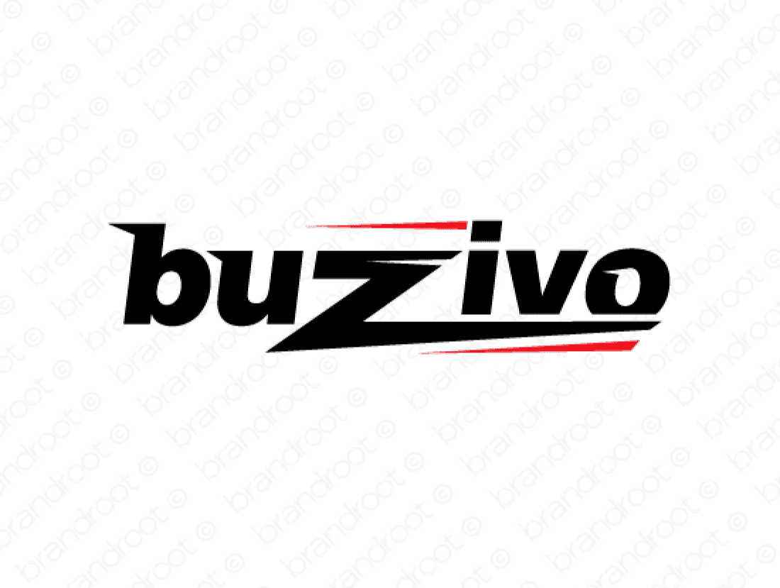 Buzivo logo design included with business name and domain name, Buzivo.com.