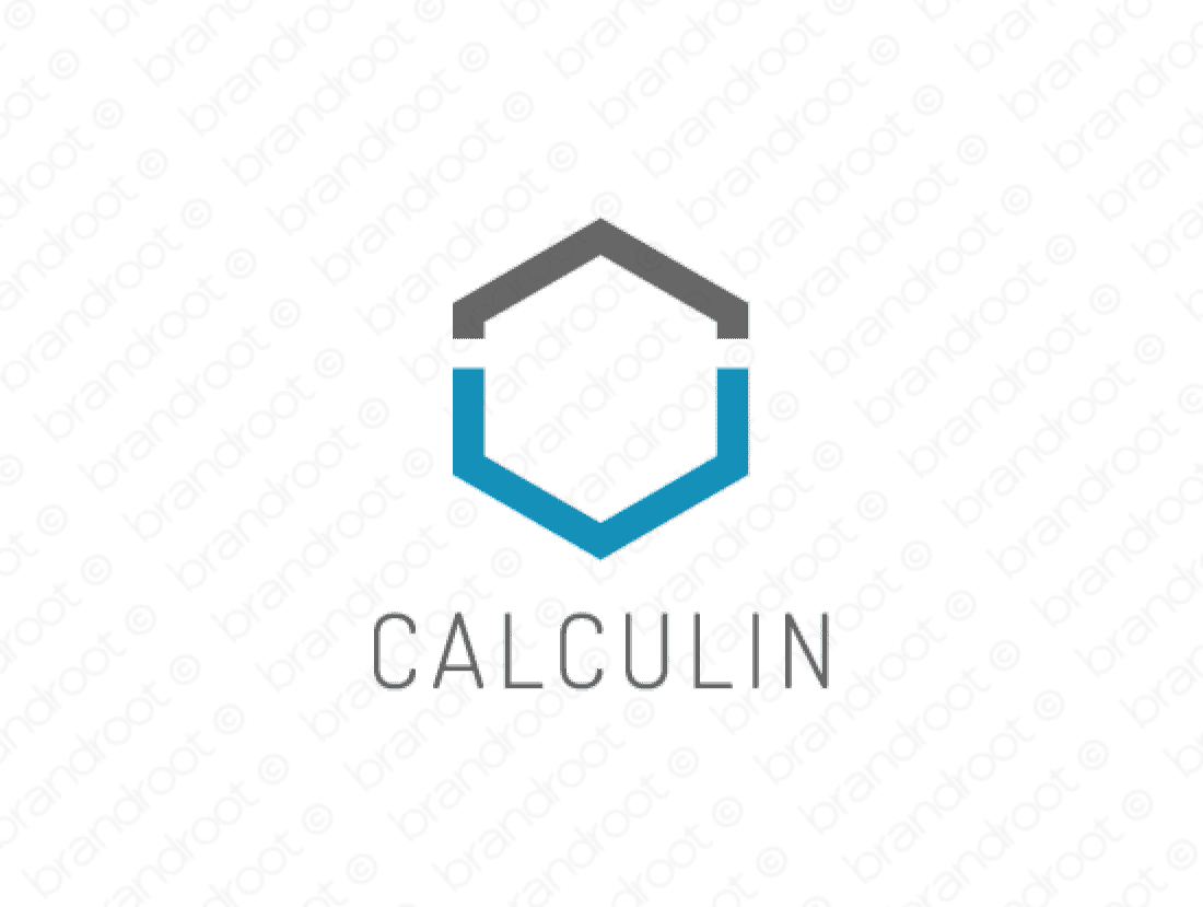 Calculin logo design included with business name and domain name, Calculin.com.