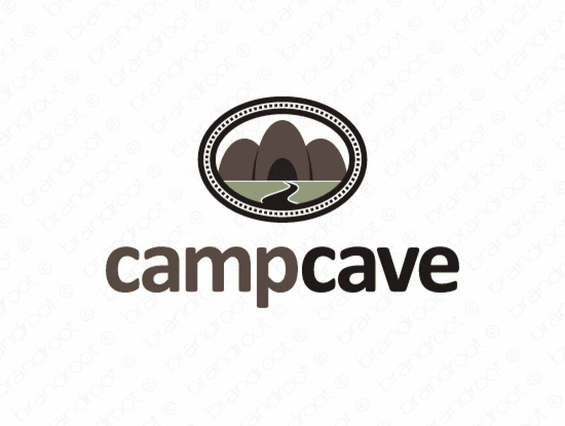 Campcave Logo Design Included With Business Name And Domain